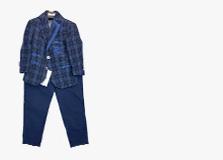 Синие классические костюмы для мальчиков
