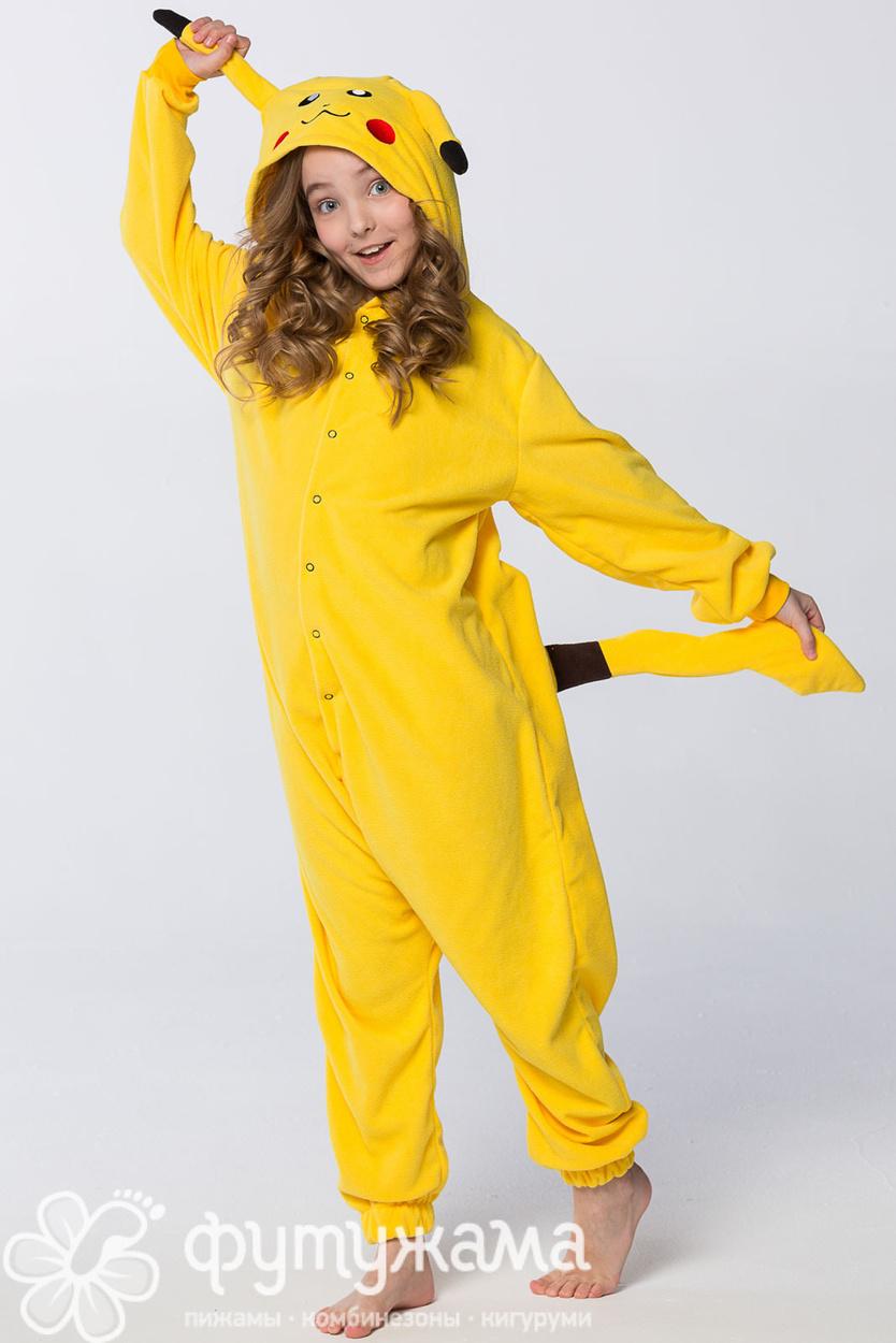 Детская пижама-кигуруми Пикачу Футужама для девочки 65ec77231d381