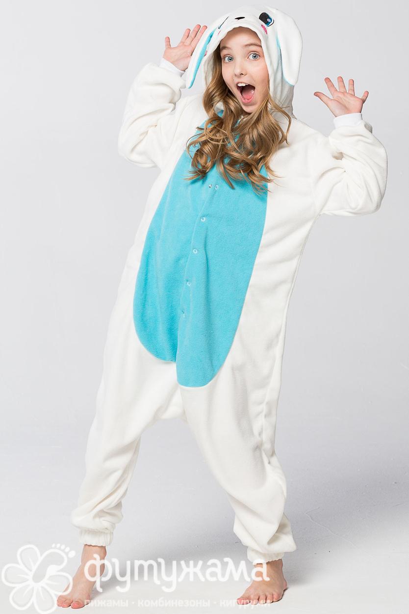 Детская пижама-кигуруми Заяц голубой Футужамацвет голубой 2fae7399a7054