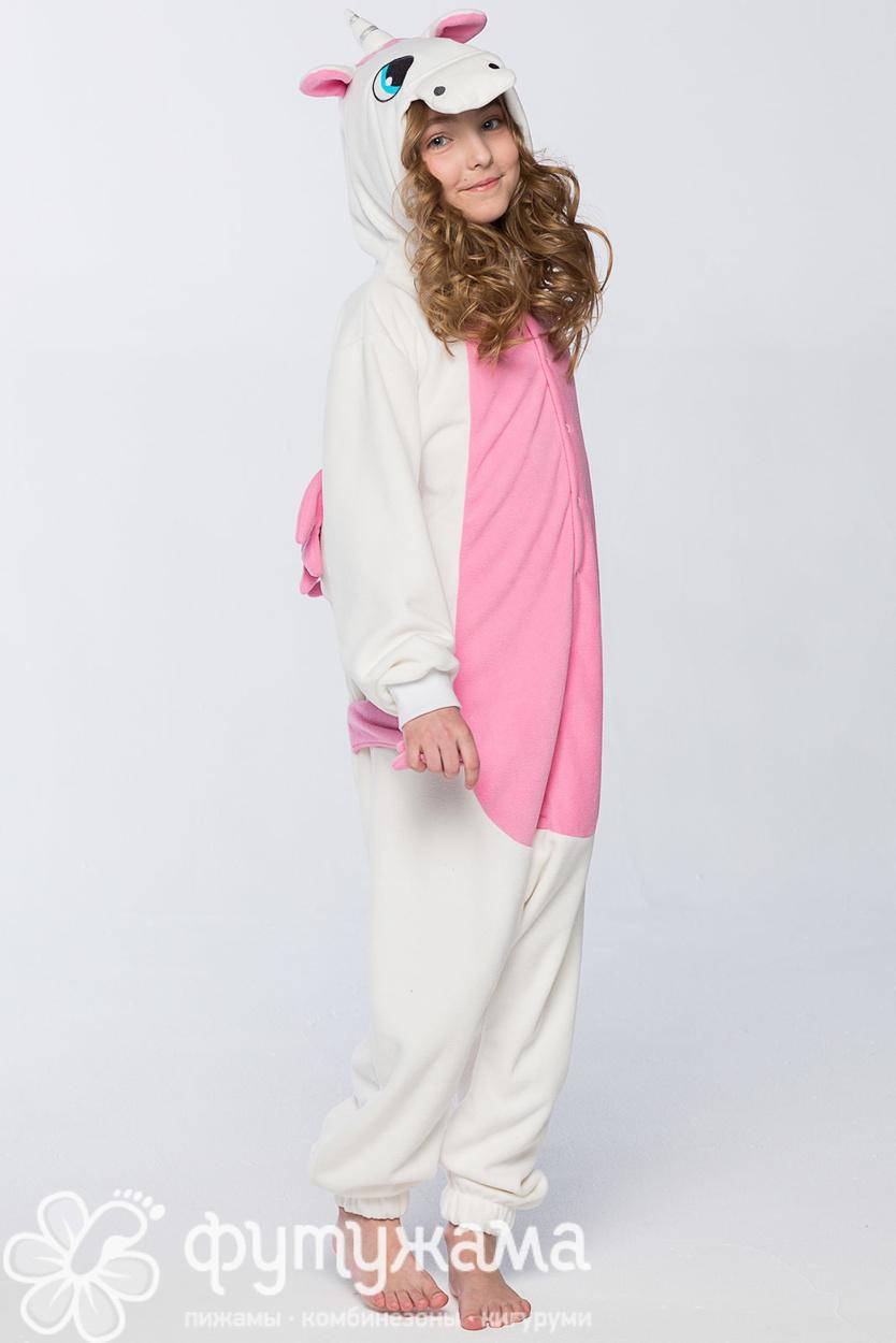 Детская пижама-кигуруми Единорог розовый Футужамацвет розовый d06a56b6519f6