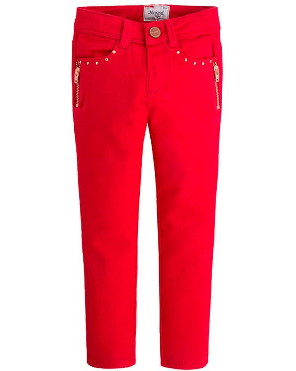 986166a4e4b Брюки для девочки с молниями красные Mayoralцвет красный