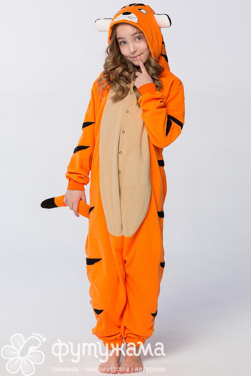 Детская пижама-кигуруми Тигр Футужамацвет желтый f4371fa45614a