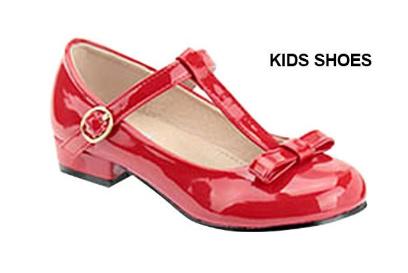 48917182 Лаковые детские красные туфли на каблуке Shoe Clickцвет красный, размер 25,  #4078057