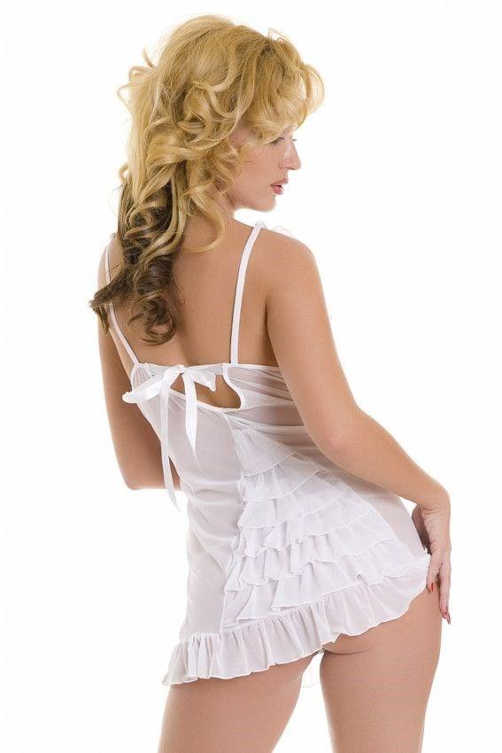 Белое платье черные трусики фото
