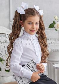 c205a0c3558 -20% Блузка белого цвета с воротником стойкой