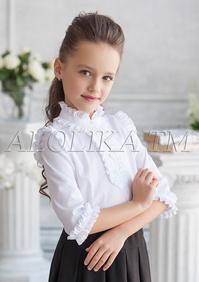dd9931311f4 -20% Блузка белого цвета с рукавами 3 4