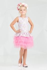 c1256d25569 -25% Платье нарядное с многослойной юбкой розового цвета