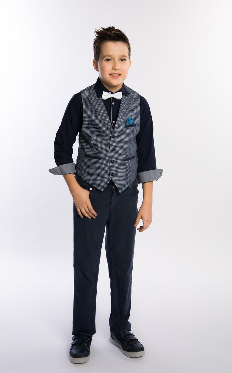 80b31090f29c88a Жилет, брюки, рубашка и бабочка, костюм MiLiцвет синий, размер 116-176,  #4431709