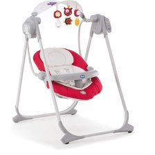 Детские электронные качели Chicco Polly Swing Up (red)