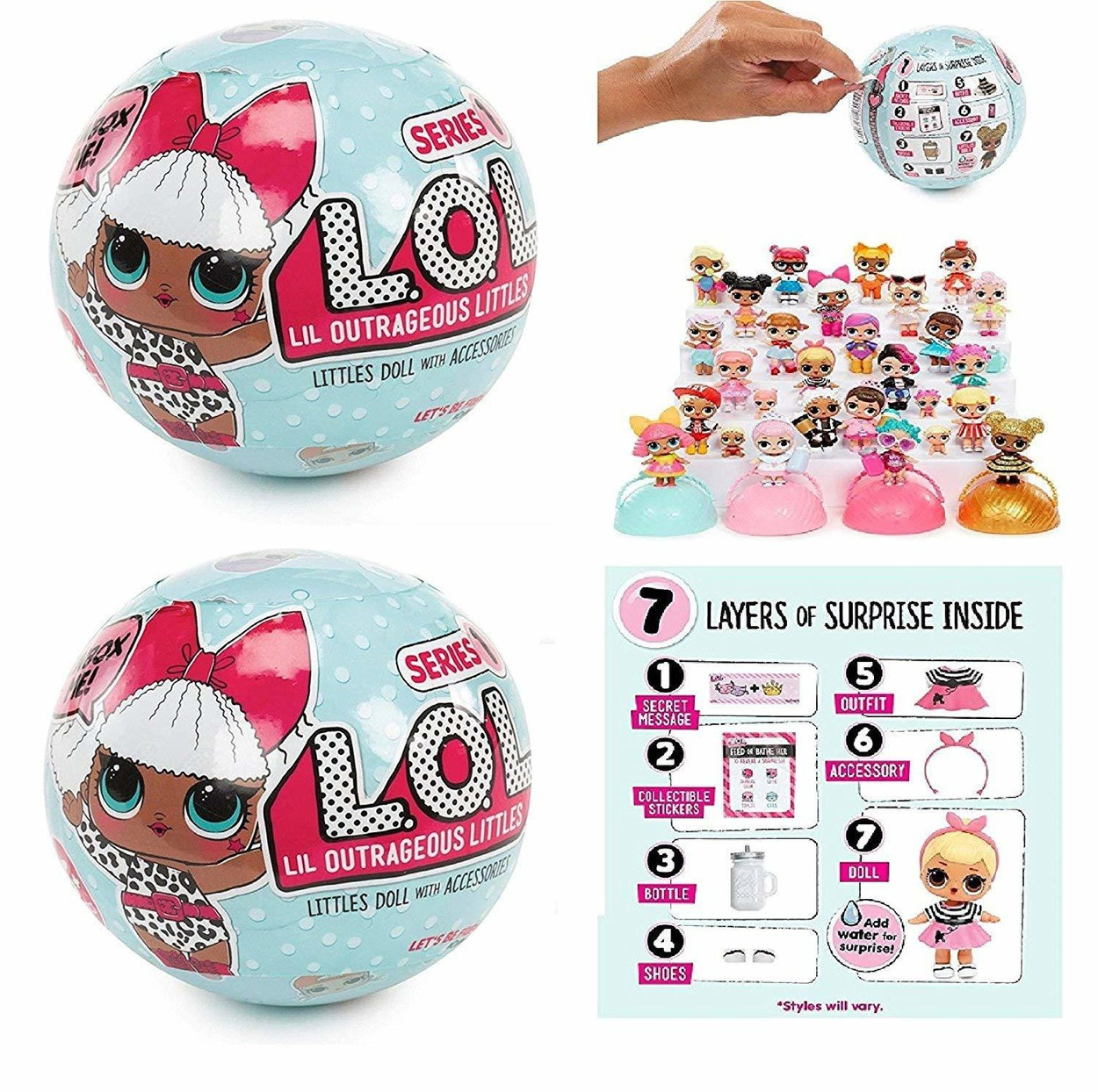 Lol Surprise 1 серия кукла сюрприз лол в шарике Mga Entertainment 4550286