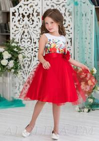 799e6deae01 460 детских красных платьев