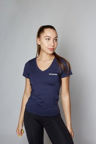 Футболка Basic V-neck Blue, XS